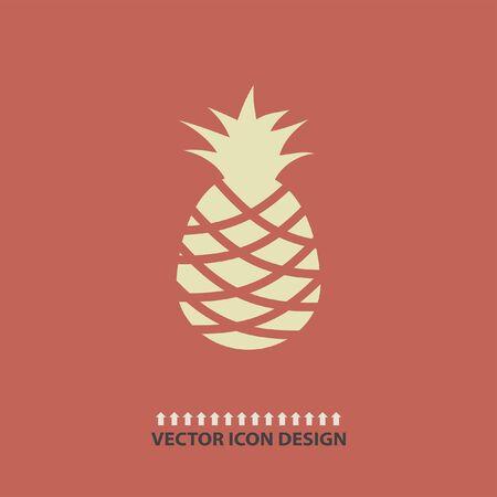 pineapple: pineapple vector icon Illustration