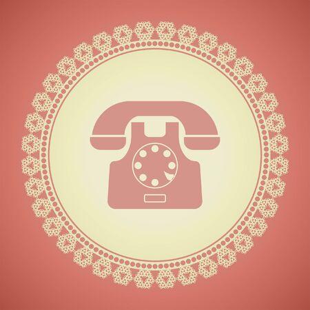 symbol vector: phone symbol vector icon