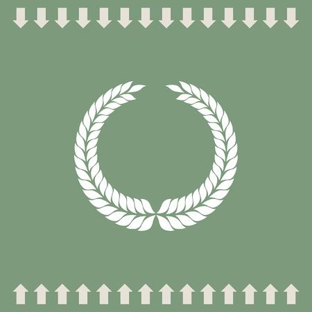 laurel leaf: laurel wreath symbol vector icon