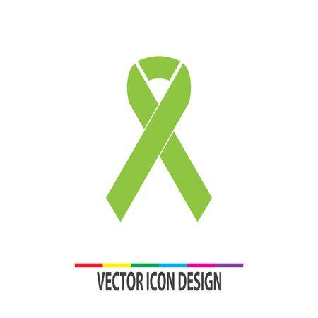 cancer awareness ribbon: breast cancer awareness ribbon vector icon