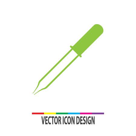 pipeta: icono de vector pipeta