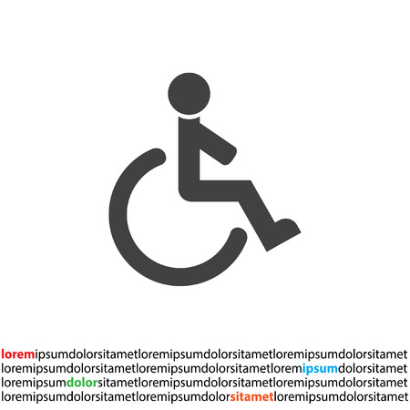 wheelchair: wheelchair vector icon Illustration