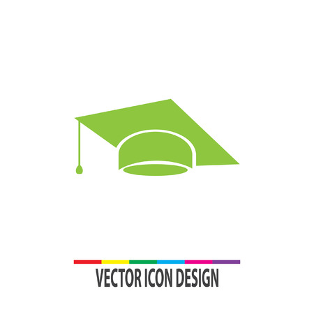 mortar cap: graduation cap vector icon