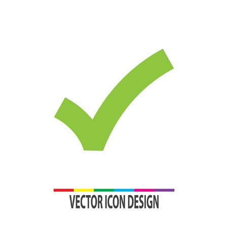 ok teken vinkje vector icon