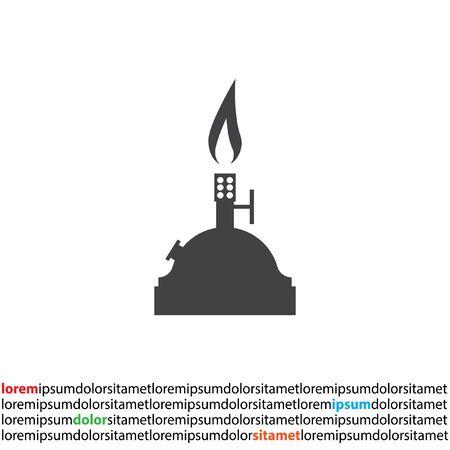 laboratory burner vector icon