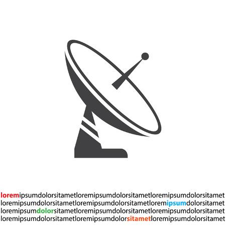 space television: satellite antenna icon