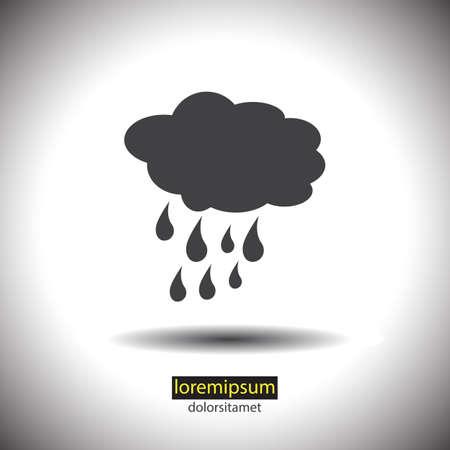 rain weather: Nube con lluvia icono tiempo vector