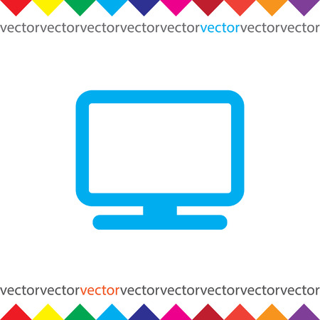 monitor: computer monitor icon Illustration