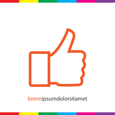 thumbs up: thumb up vector icon