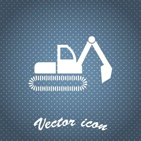 excavation: dredge symbol vector icon