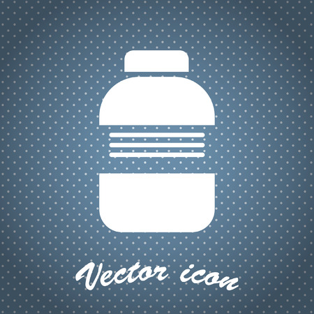 medical bottle vector icon