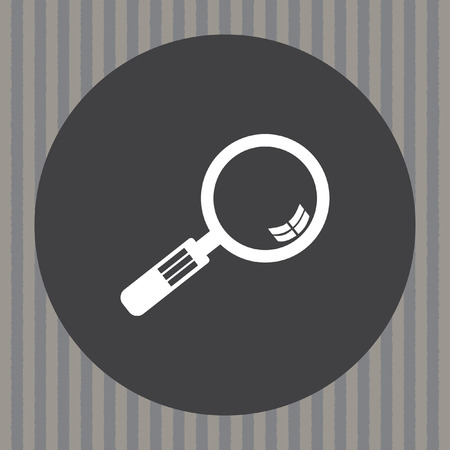 magnification icon: magnifying glass vector icon Illustration