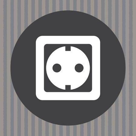 power socket vector icon Vector