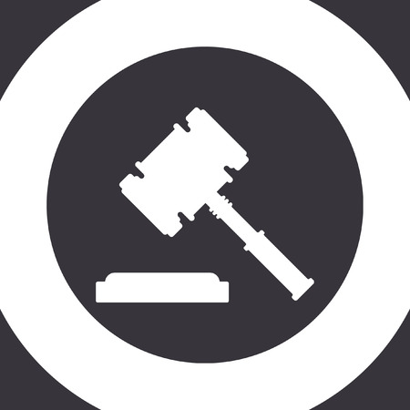 verdicts: judge hammer vector icon Illustration
