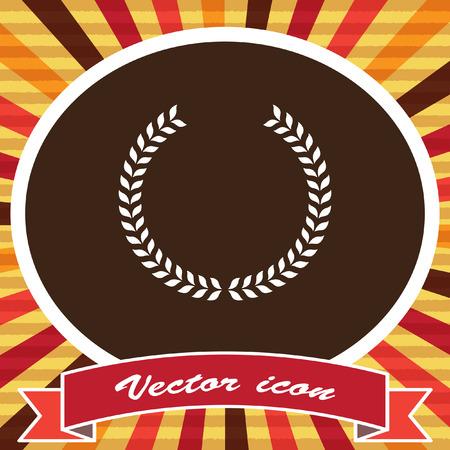 decorations wreaths: laurel wreath vector icon