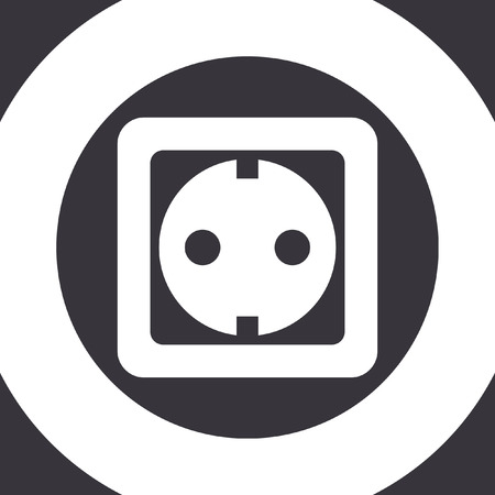wattage: power socket vector icon