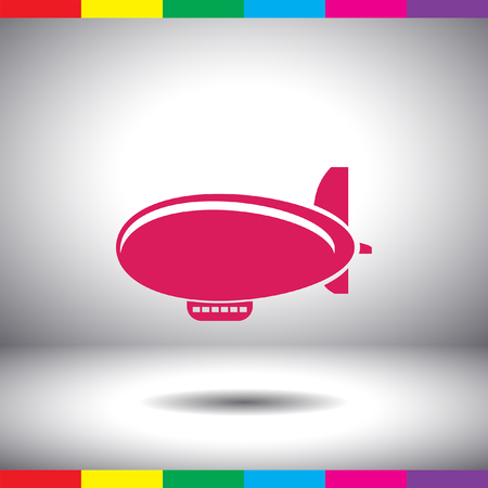 airship: airship zeppelin vector icon Stock Photo