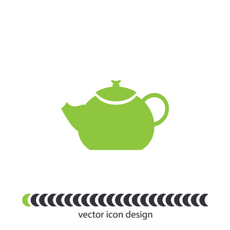 creamer: teapot vector icon Stock Photo
