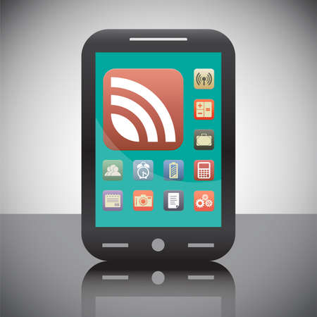 rss news feed vector icon photo