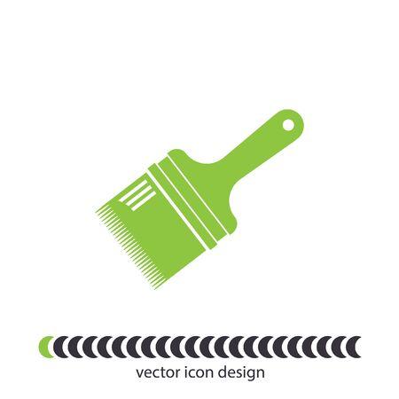 flat brush: paint brush flat vector icon