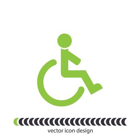 accessible: wheelchair vector icon Stock Photo
