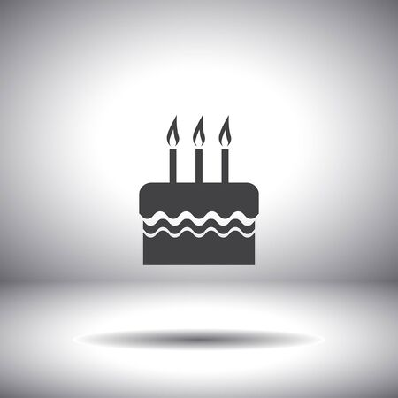 birthday cake vector icon Vector