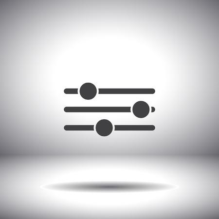 sliders vector icon Vector