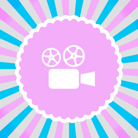 movie camera cinema vector icon Vector