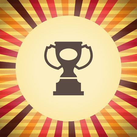 trophy award: premio icono de trofeos vector