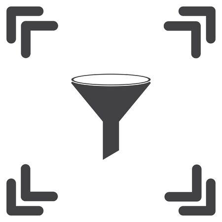 filtered: filter vector icon Illustration
