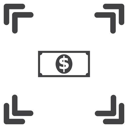 banknote: money banknote vector icon Illustration