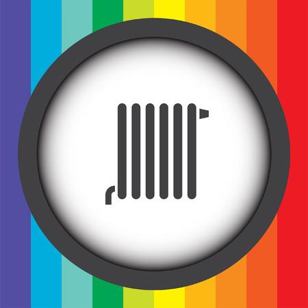 radiator vector icon Vector