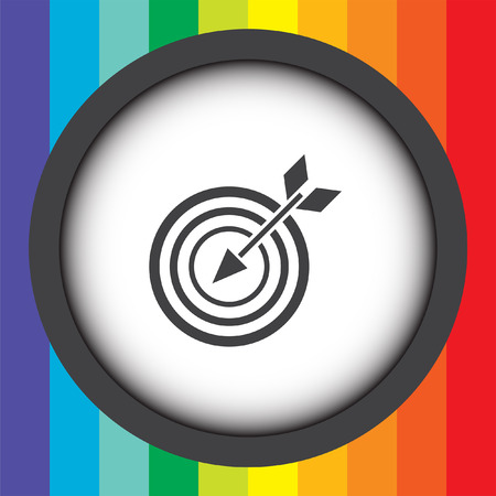 target with arrow vector icon Vector