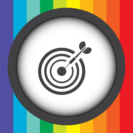 target with dart vector icon Vector