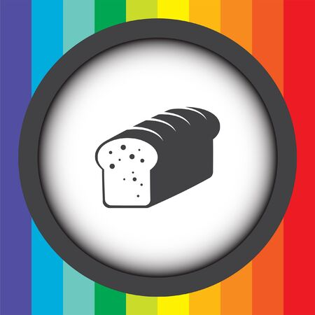 toast bread vector icon Vector