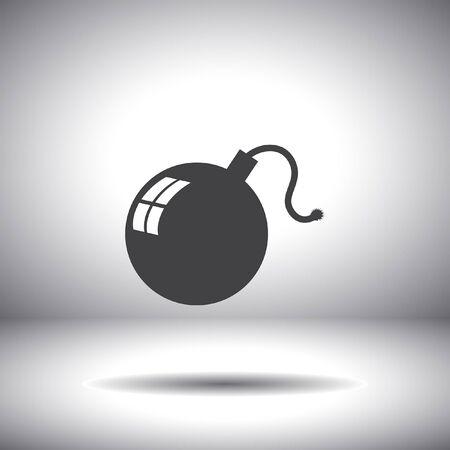 bomb vector icon Vector
