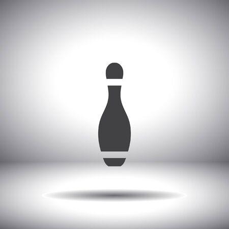 bowling pin vector icon Vector