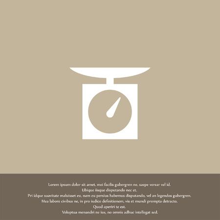 kitchen scales vector icon