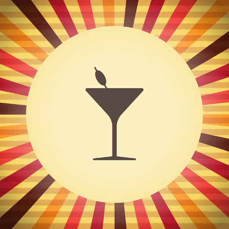 coctail: coctail glass vector icon Illustration