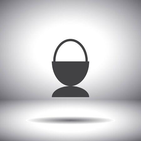 egg vector icon Vector