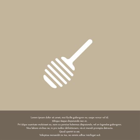 honey spoon vector icon Vector