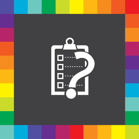 check list with question mark vector icon Vector