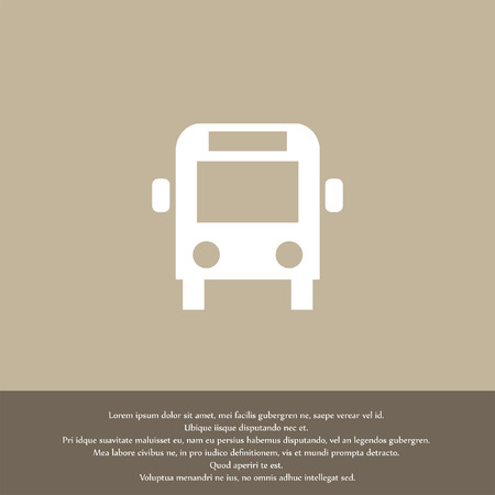 bus vector icon Vector