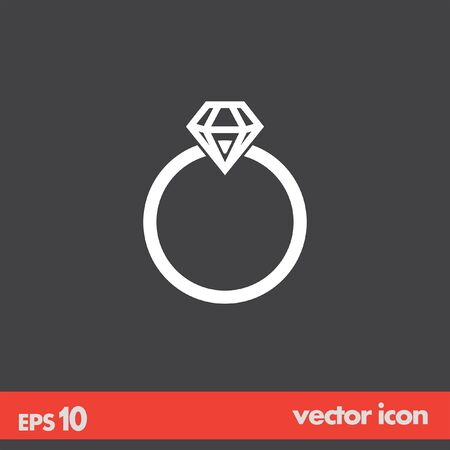 diamond ring vector icon Vector