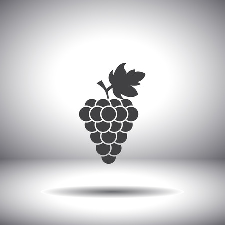 grapes on vine: grape vector icon Illustration