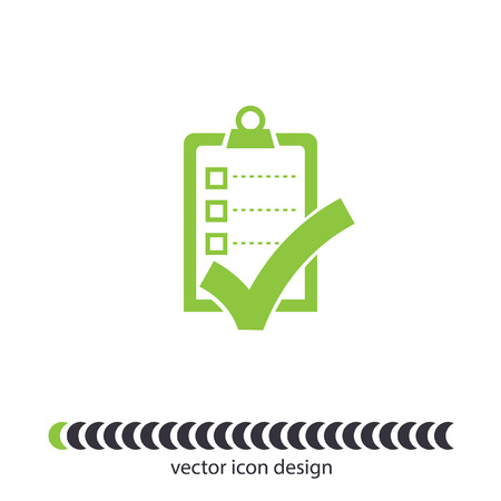 check list with ok sign vector icon