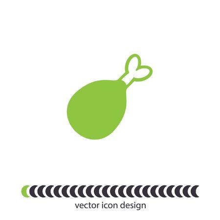 chicken leg vector icon Vector
