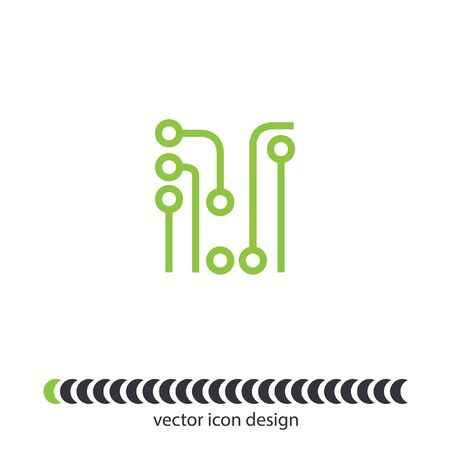 circuit board vector icon Vector