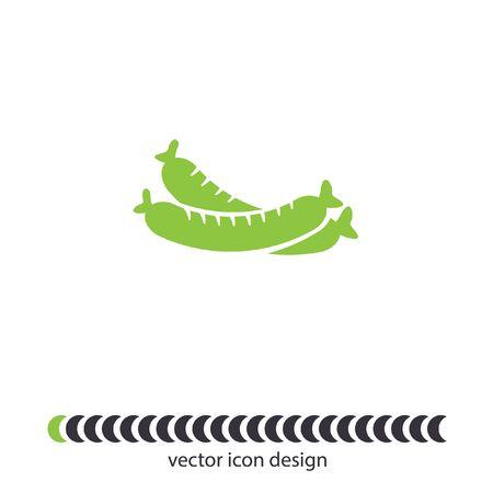 sausage vector icon Vector