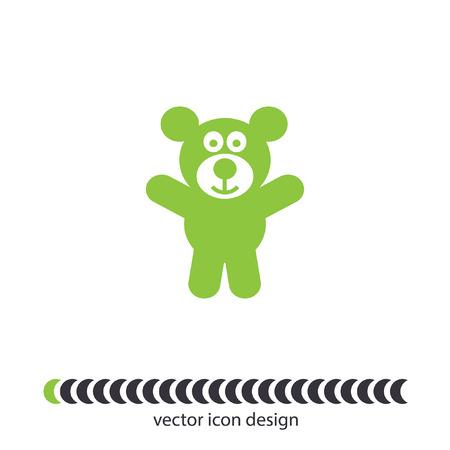 teddy bear vector icon Vector
